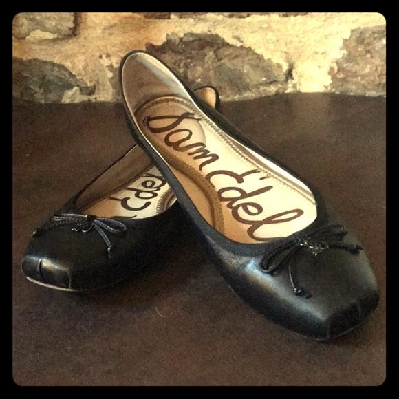 eafb92970 Sam Edelman Dominica black leather ballet flats 10.  M 5b2302bc1b3294c8db4f872e
